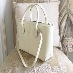 Authentic Tod's cream bag satchel tote shoulder